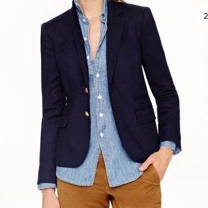 J. CREW Classic Cotton Navy Blue Blazer Size 8
